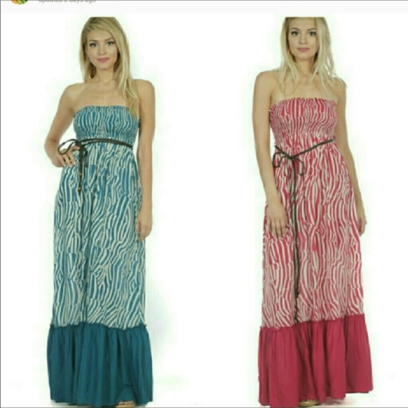 Dresses & Skirts - BOUTIQUE STRAPLESS MAXI DRESS WITH OPTIONAL STRAPS